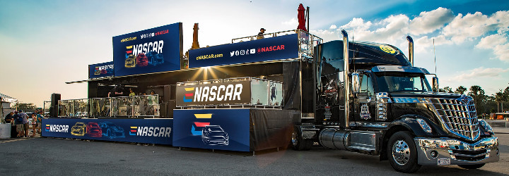 Massive gaming truck to visit NASCAR Cups