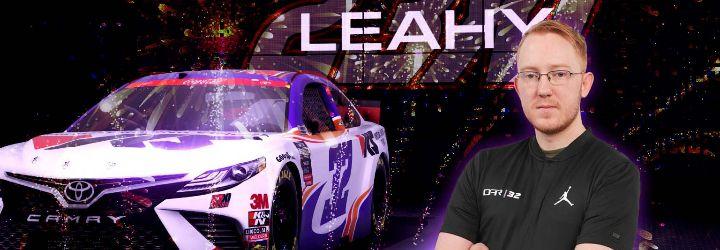Finally! Veteran Leahy ties up eNASCAR championship