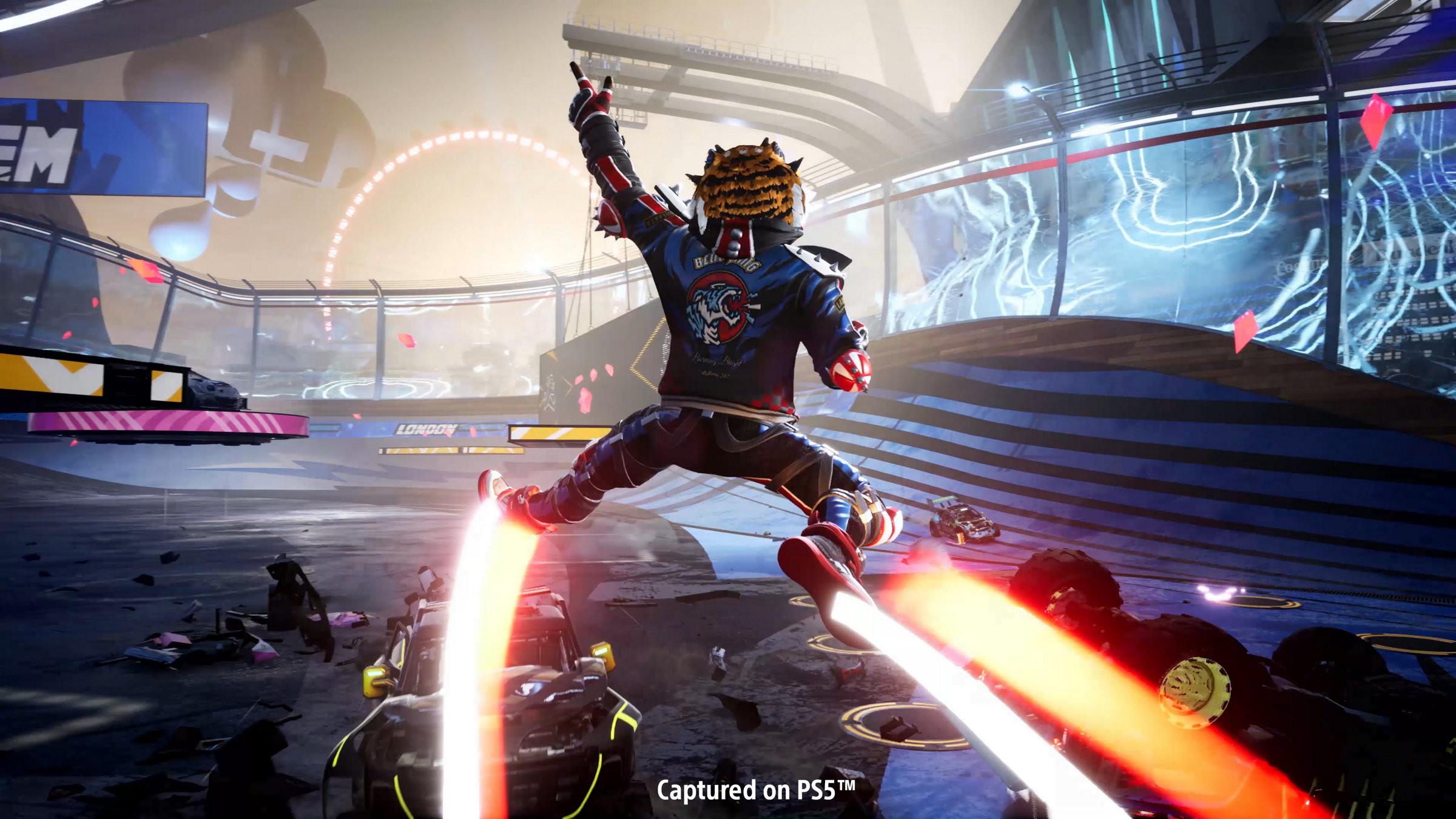 The PS5 offers many exclusive games such as Destruction All-Stars. The game promises to be action-packed.