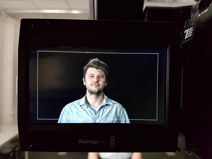 picture of Nik through the display of a camera