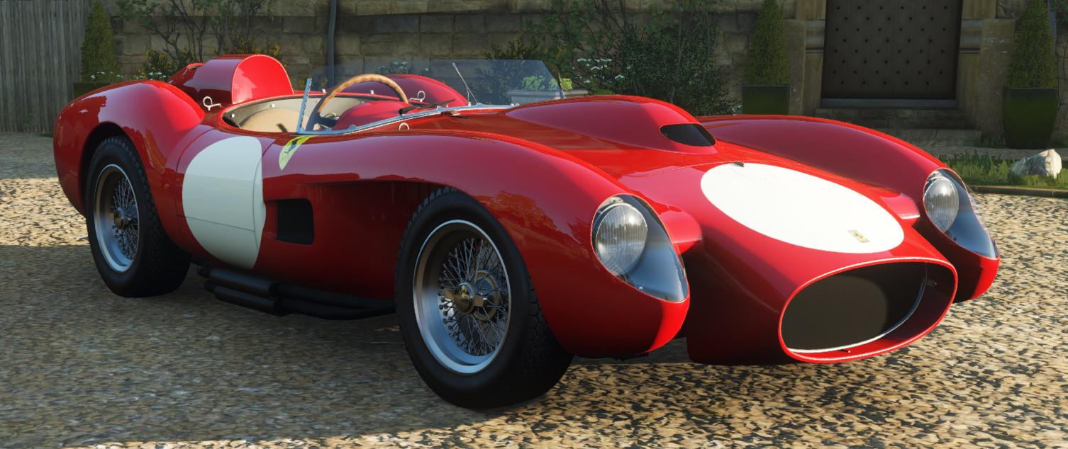 screenshot of the Ferrari 250 Testa Rossa