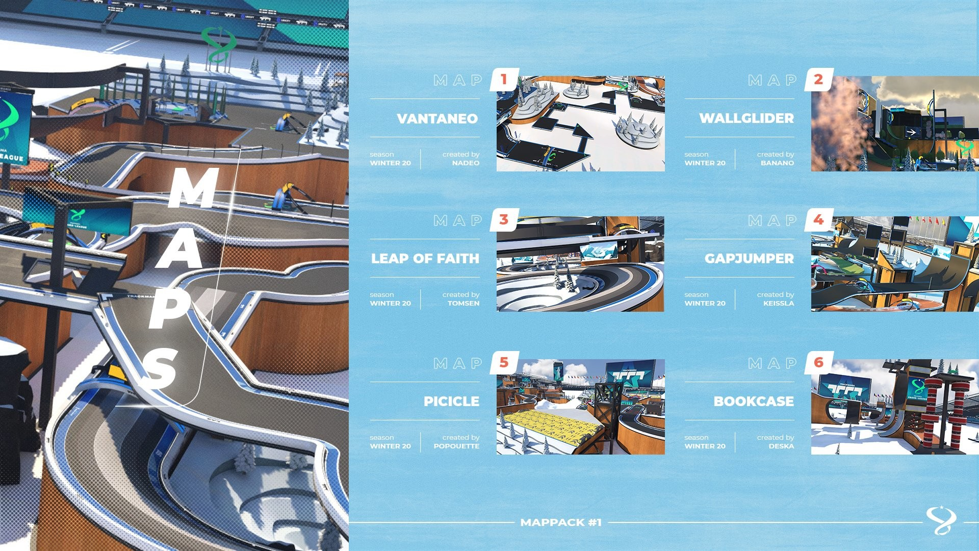Picture of six new maps