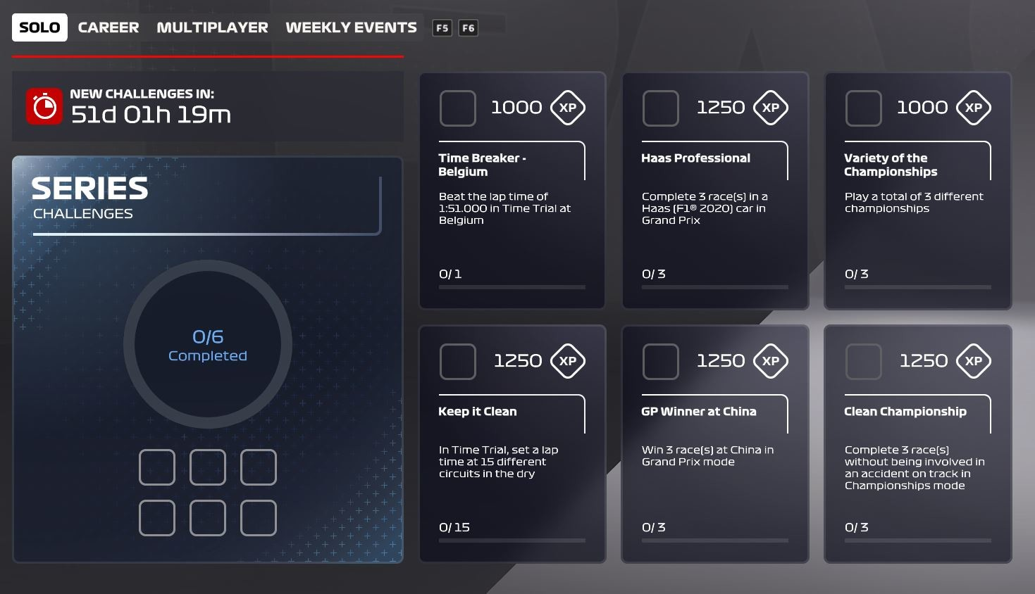 Picture of the Solo challenges