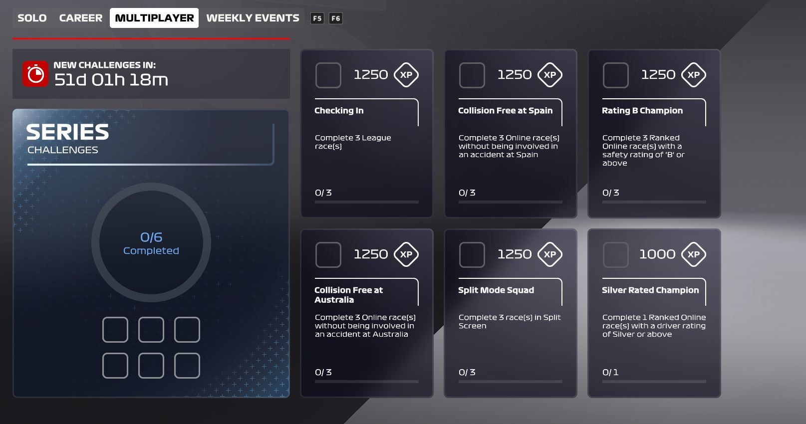 Picture of the Multiplayer challenges