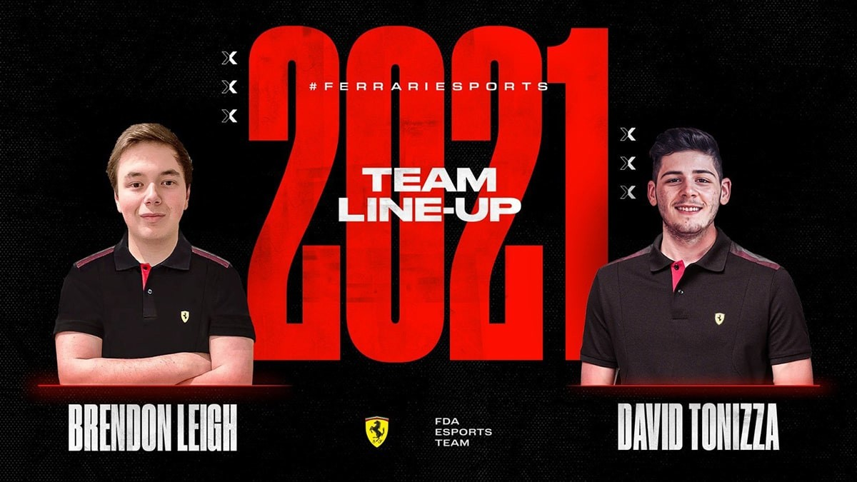 Image showing Ferrari's line-up for 2021 with Brendon Leigh and David Tonizza.