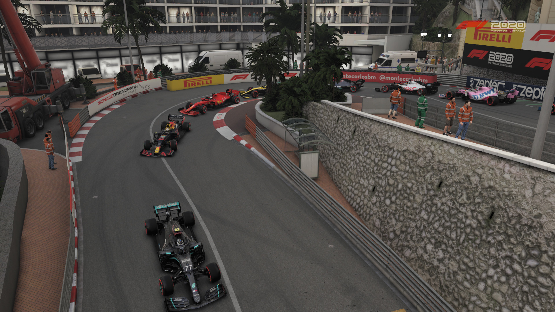 Picture of cars driving through the Grand Hotel Hairpin