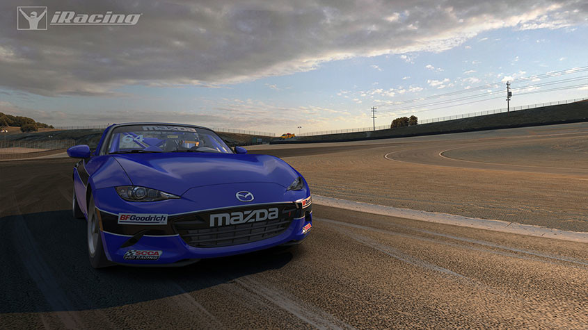 Picture of Mazda MX-5 Cup racing.