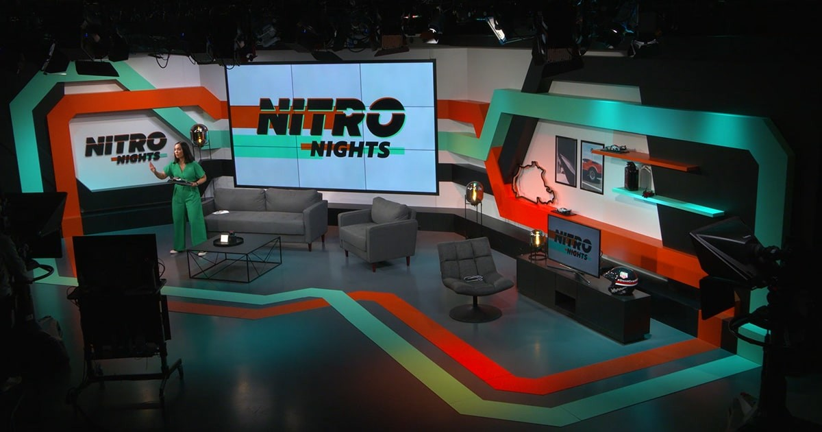 The picture shows Nitro Nights host Steffi in our OverTake studio.