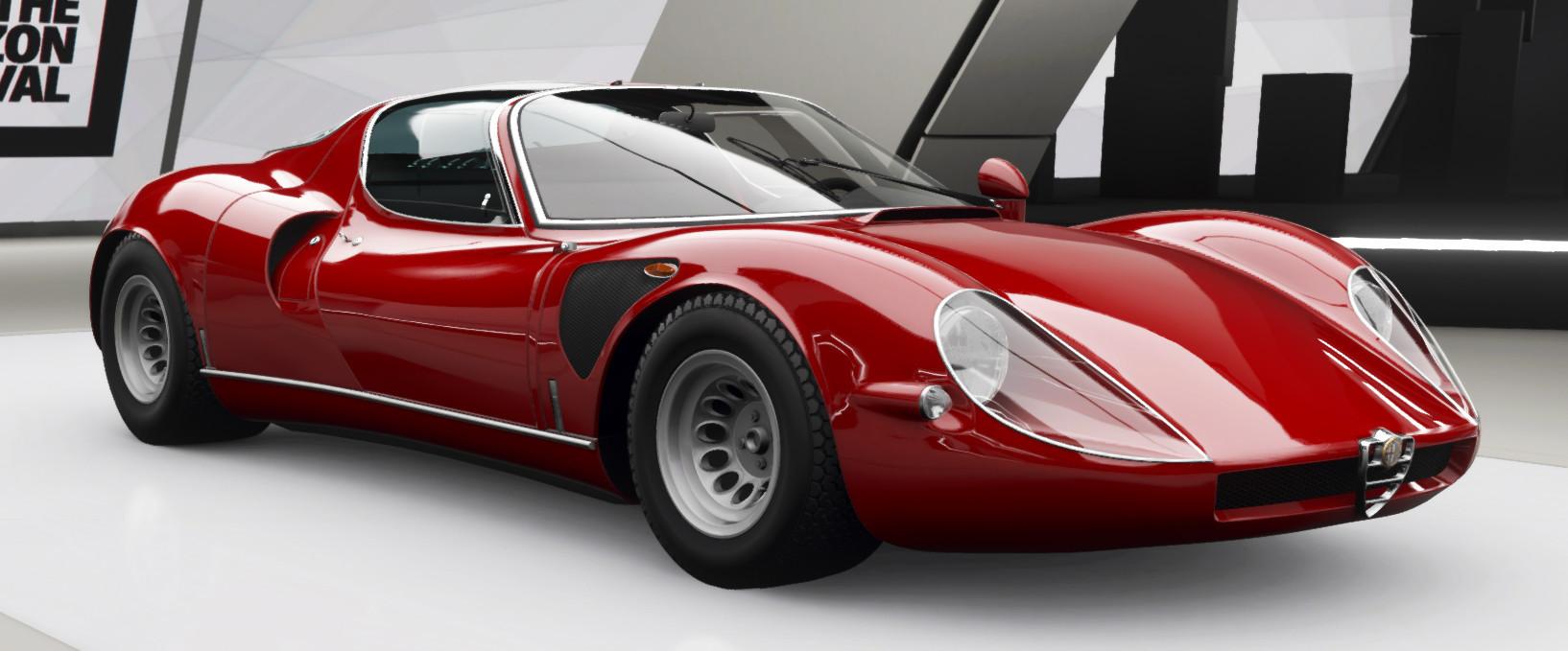 picture of the Alfa Romeo 33 Stradale in Forza Horizon 4
