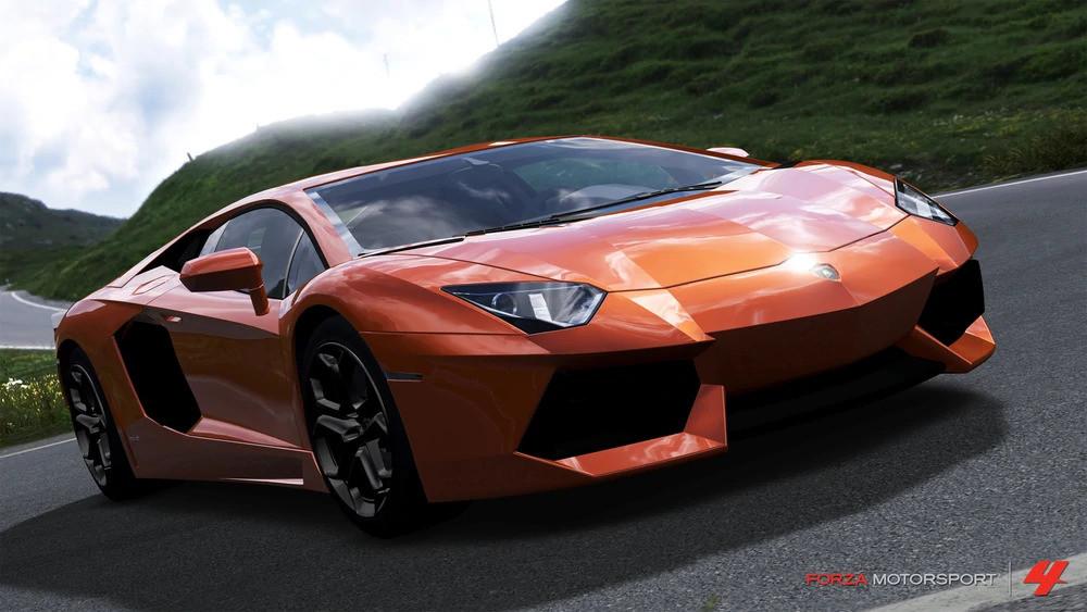 picture of the Lamborghini Aventador in Forza Horizon 4