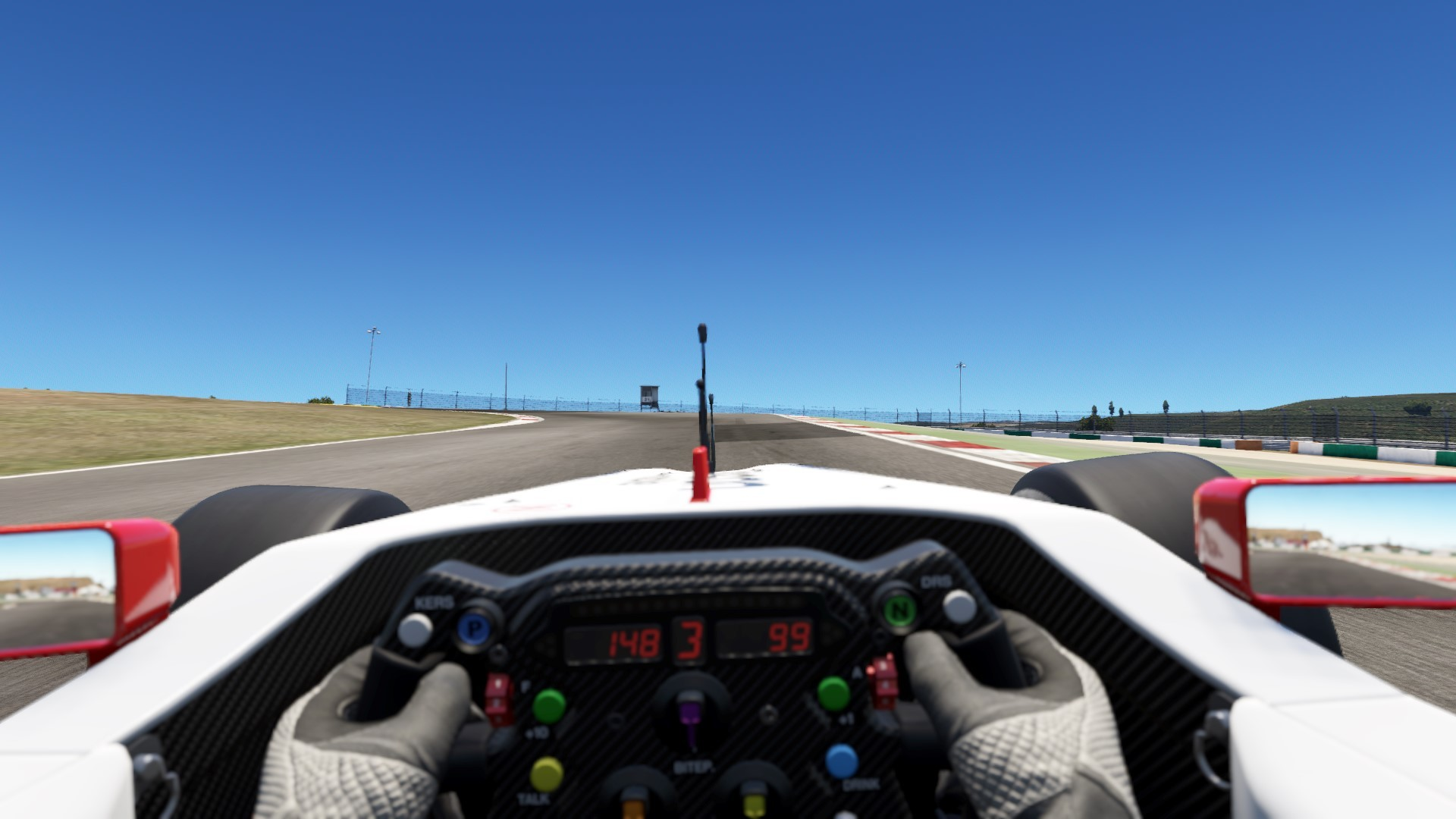 cockpit view when arriving at turn 13