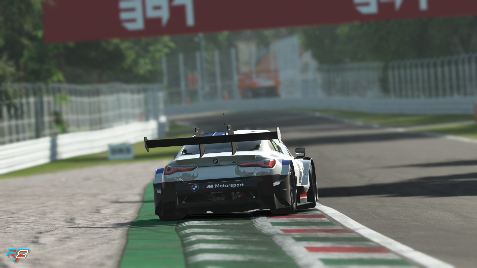 An image of the BMW M4 Class 1 2021 driving at Monza in rFactor 2.