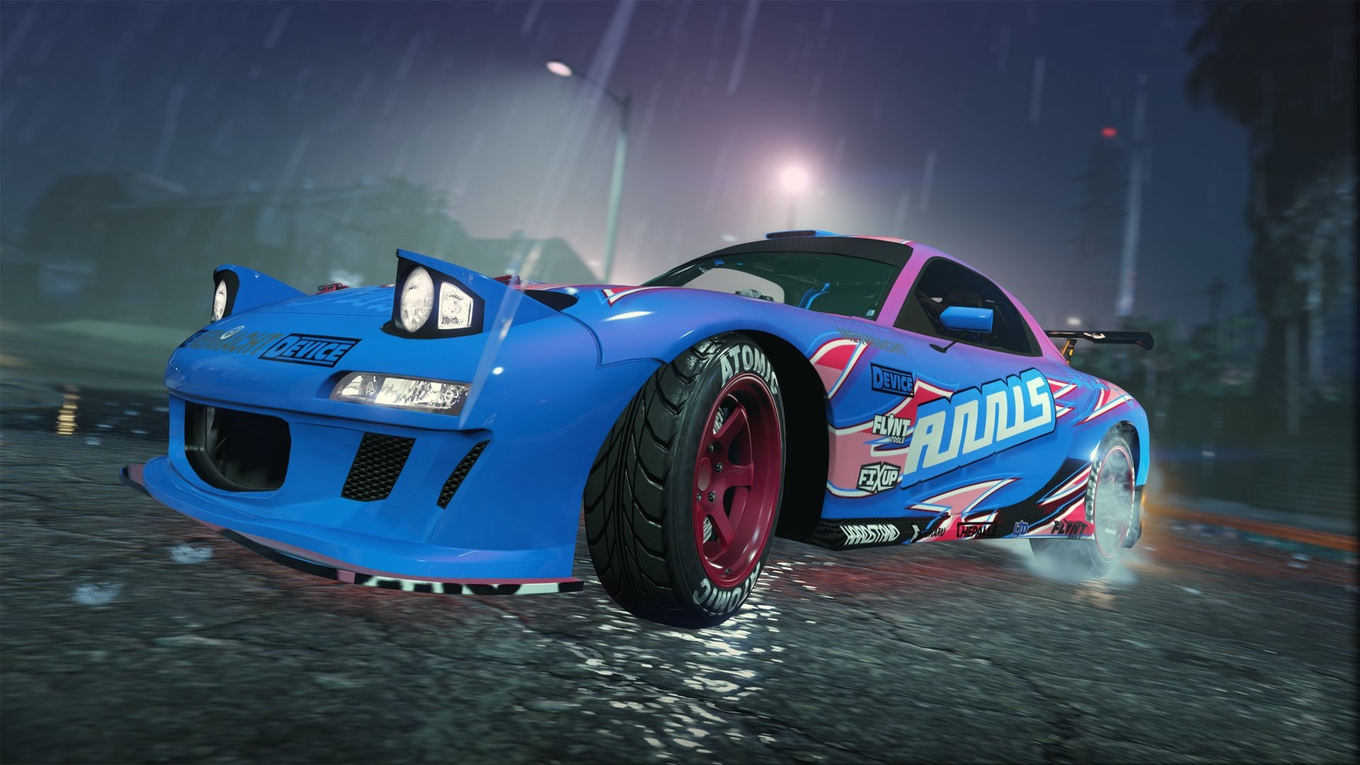Annis ZR350 car drifting in the wet.