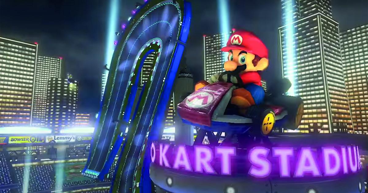 An image of Mario Kart Stadium.