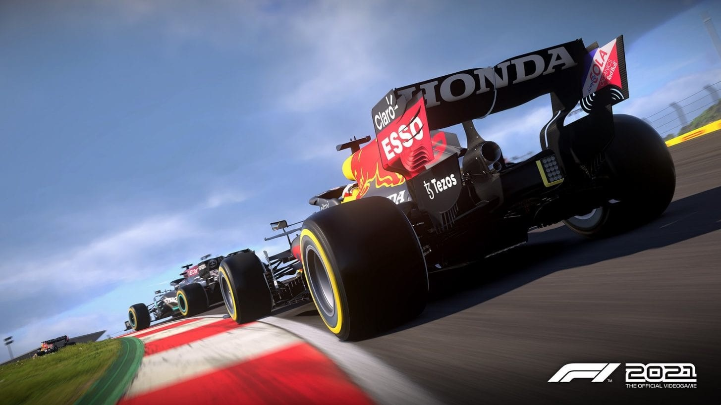 An image of a Red Bull driving at Portimao in F1 2021.