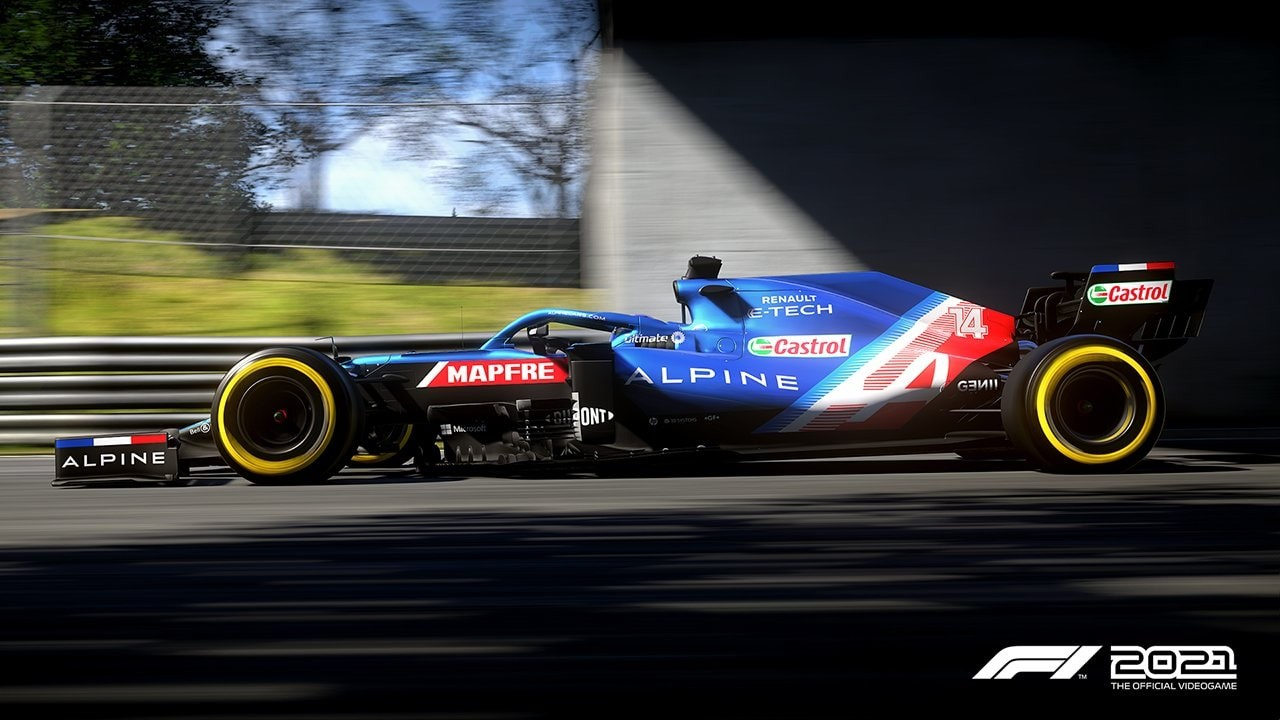 An image of an Alpine F1 car in F1 2021.