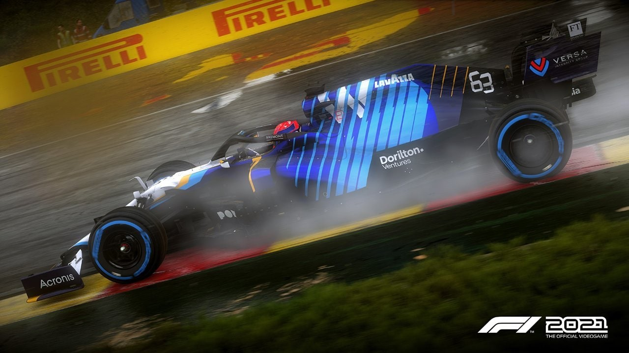 An image of a Williams F1 car in F1 2021.
