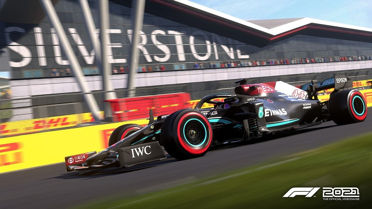 An image of a Mercedes F1 car in F1 2021.
