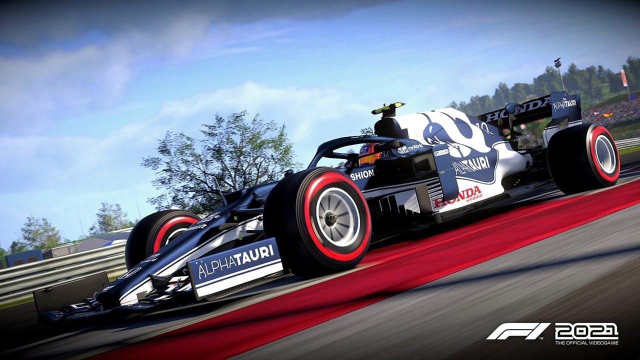 An image of an AlphaTauri F1 car in F1 2021.