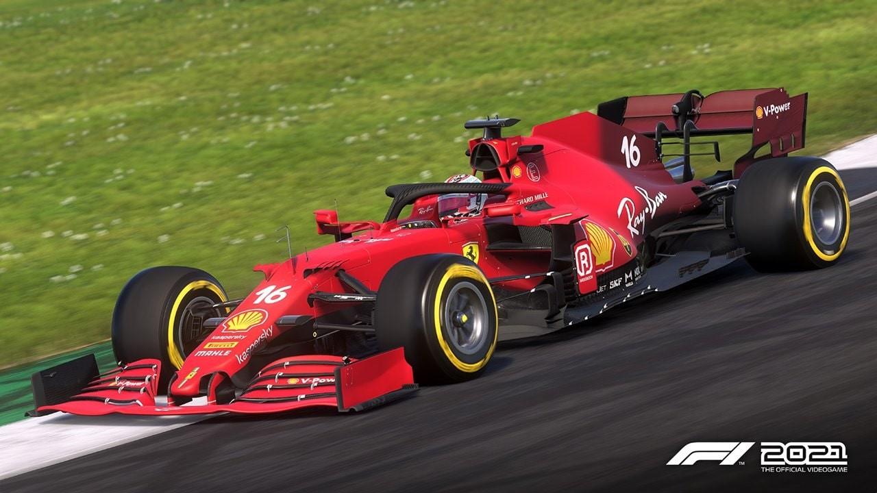 An image of a Ferrari F1 car in F1 2021.