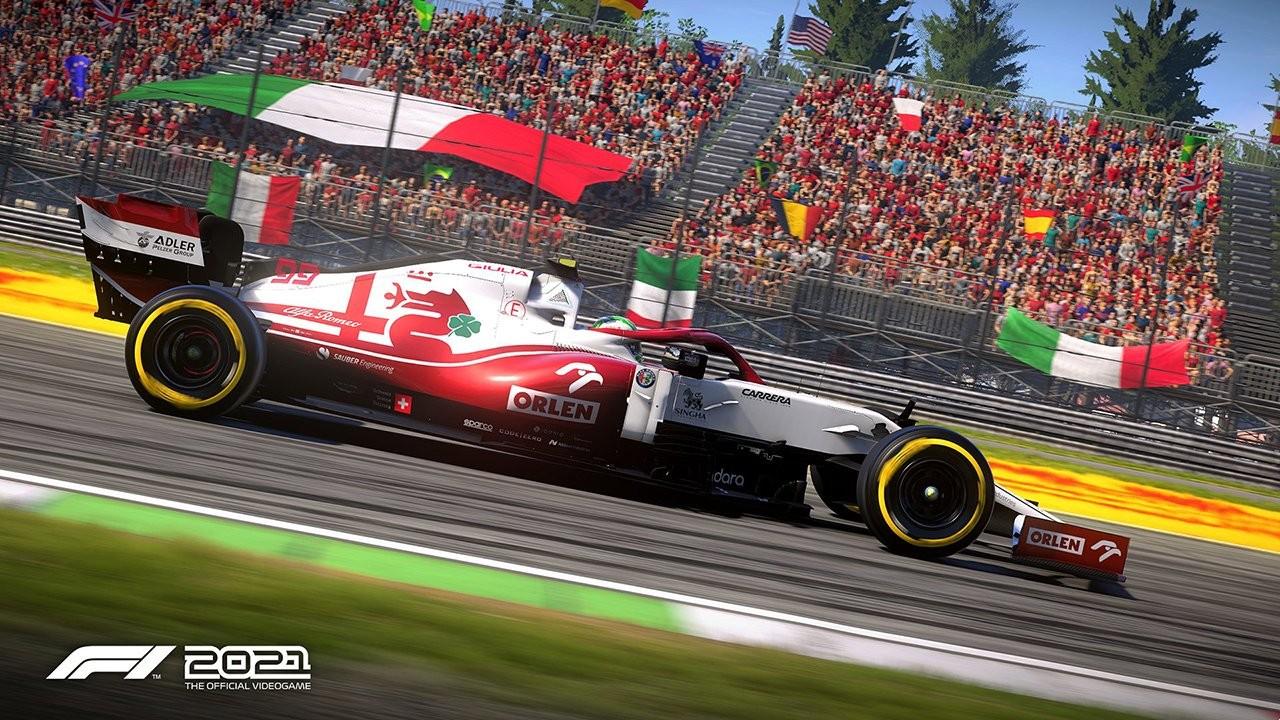 An image of an Alfa Romeo F1 car in F1 2021.